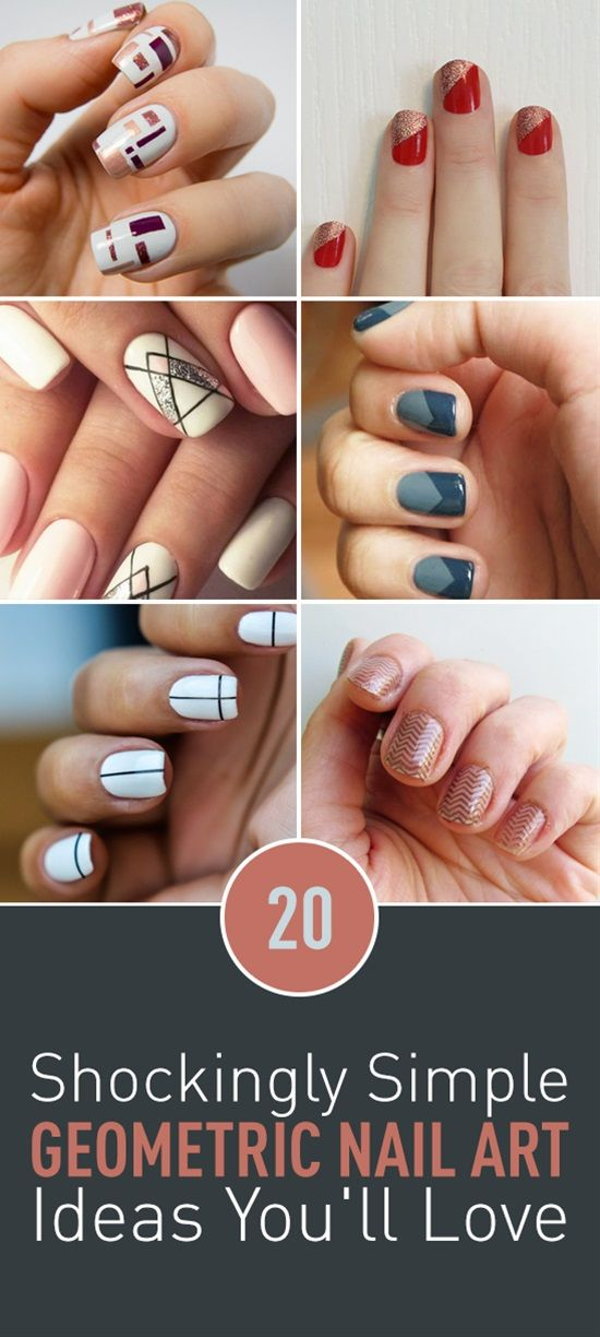 20 shockingly simple geometric nail art ideas youll love 20 shockingly simple geometric nail art ideas youll love solutioingenieria Image collections