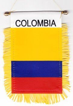 Colombia Window Hanging Flag By Flagline 0 01 4 X 6 Fringed Window Hanging Flag We Are Pleased To Provide A Selection Hanging Flags Window Hanging Flag