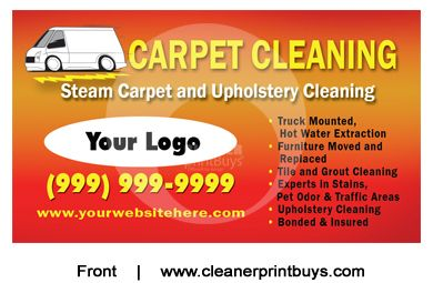 Carpet Cleaning Business Cards C0001 Uv Gloss Floor