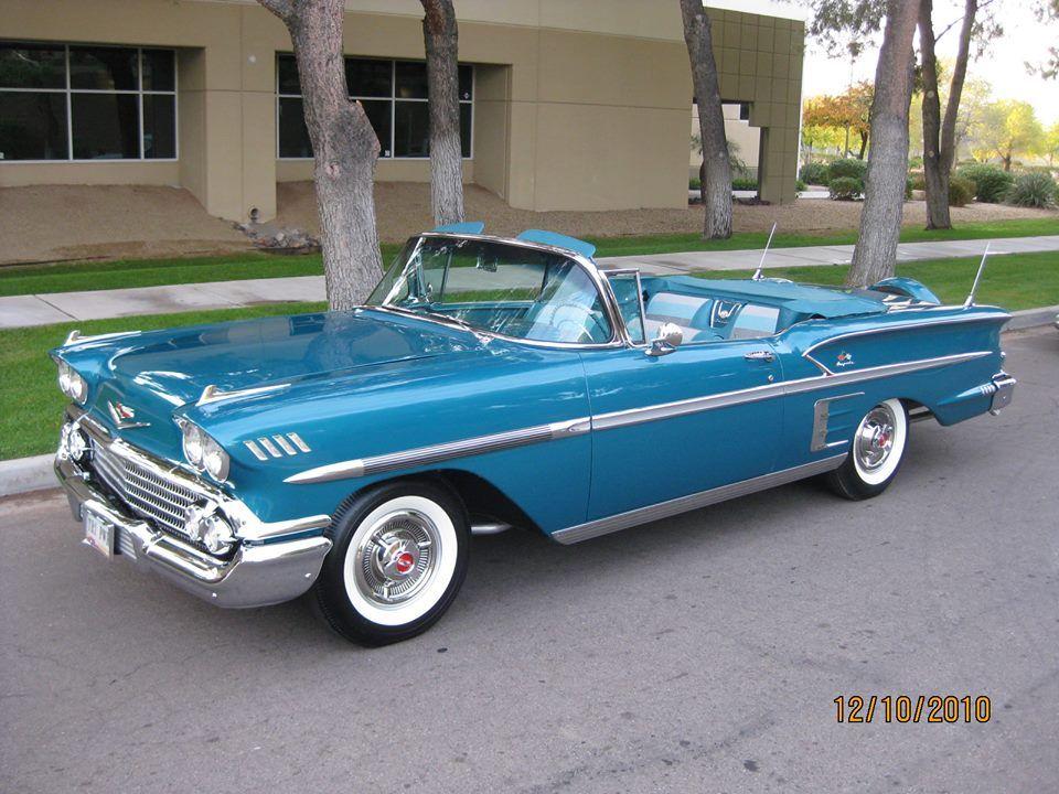1958 Impala Convertible Sets Record Price 1958 Chevy Impala Chevrolet Impala Classic Cars