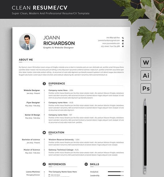 How To Make A Resume With Word Modern And Creative Resume Template  Modern & Professional Resume .