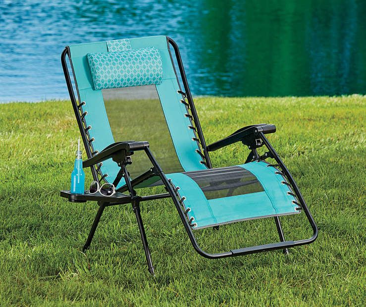 Teal Oversized Zero Gravity Lounger | Big lots, Patio ...