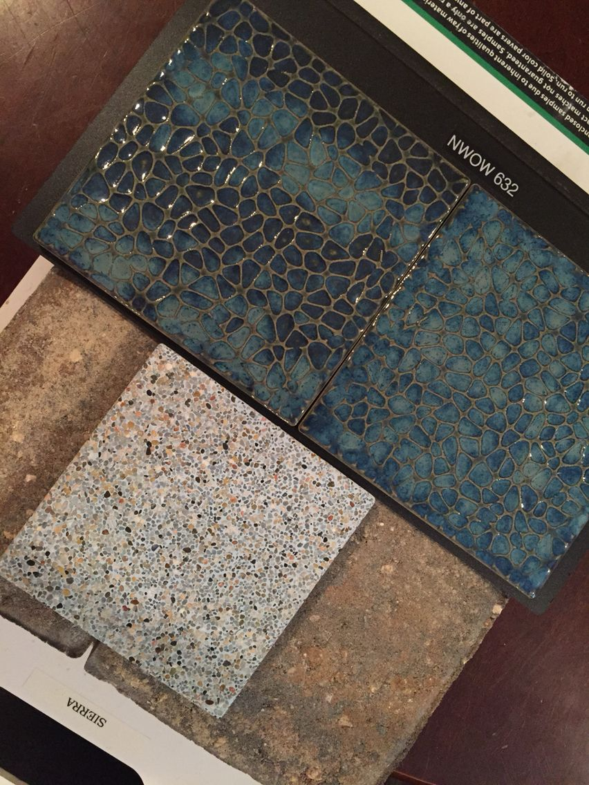 Sunstone Aqua Pearl Pool Finish Nwow 632 Le Tile For Border And Sierra Pavers Decking