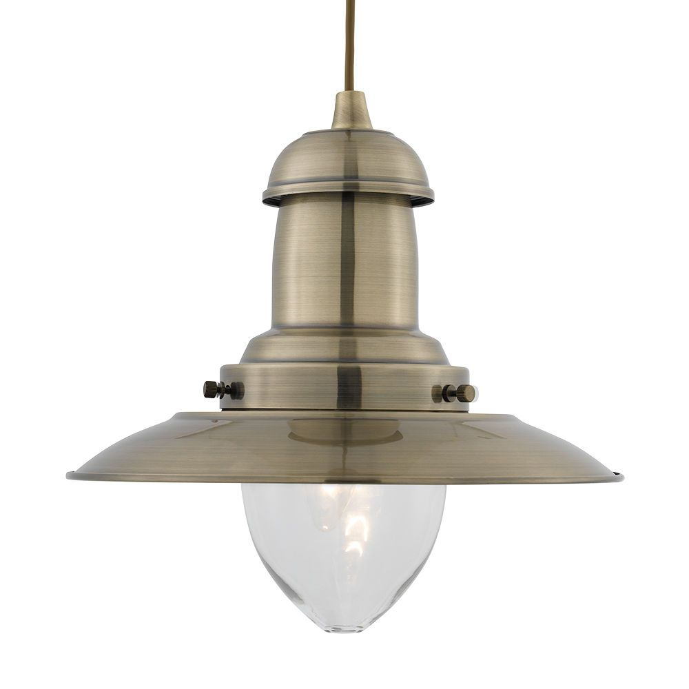 Searchlight antique brass fisherman clear glass shade ceiling searchlight antique brass fisherman clear glass shade ceiling pendant lamp light ebay aloadofball Image collections