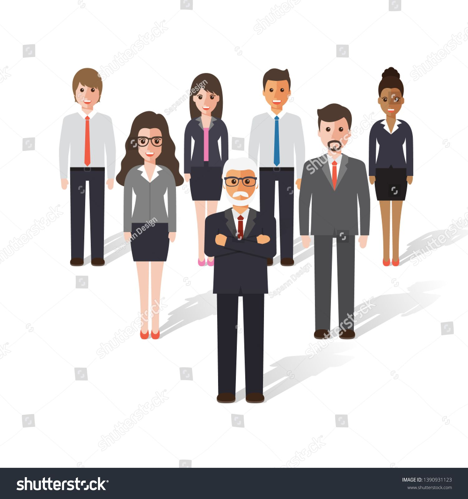 Business People Silhouettes Business Man Silhouette Figures