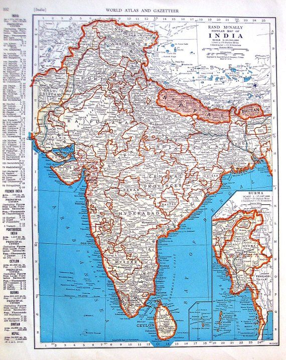 Afghanistan Map Of World.Map Of Iran Afghanistan Baluchistan And Map Of India 1942