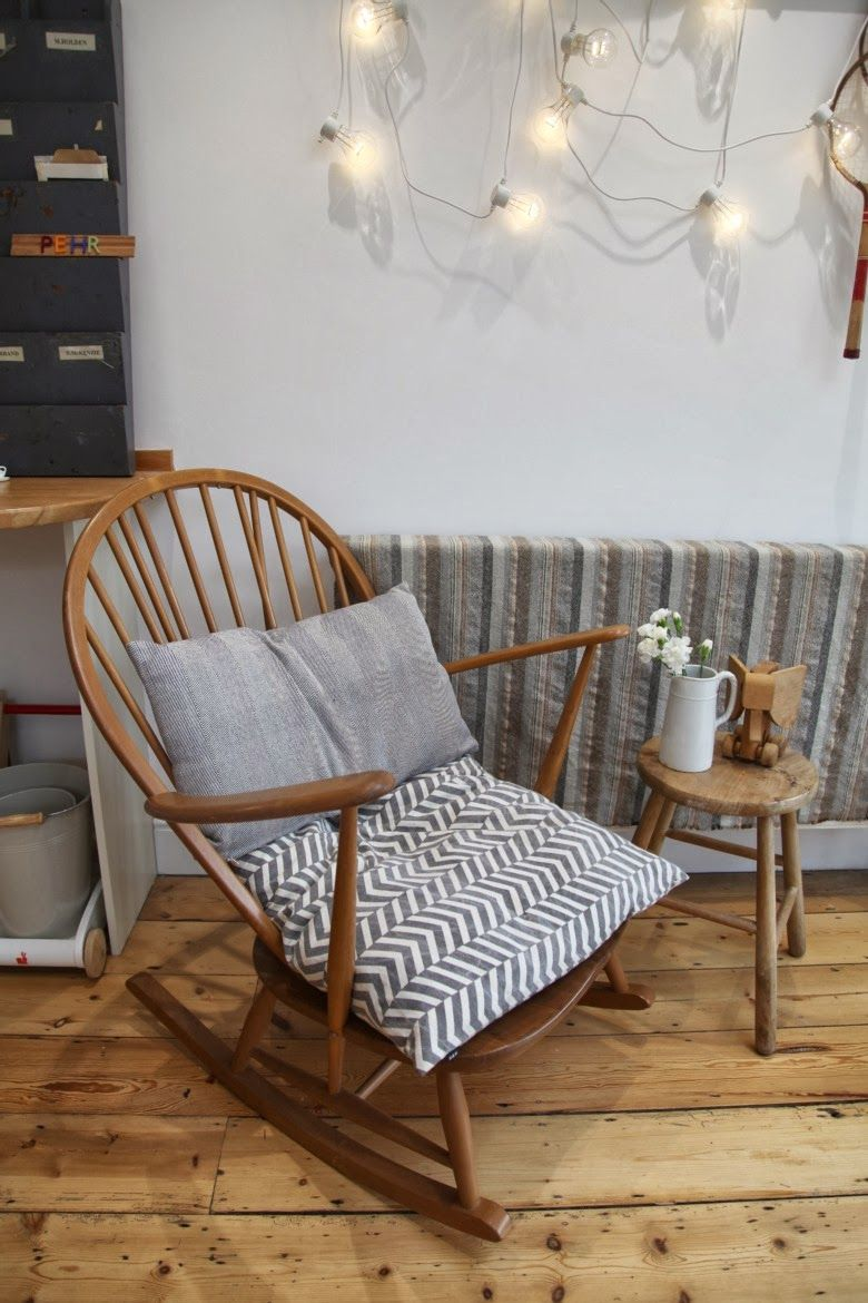 sofa rocking chair low profile red leather junkaholique our kitchen type room apartment interiors ercol nursery