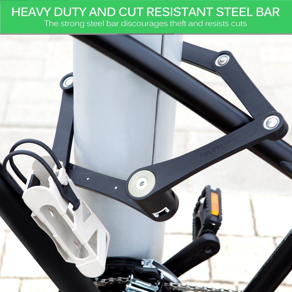 Foldylock Bike Lock Heavy Duty Bicycle Chain Lock Carrying Case