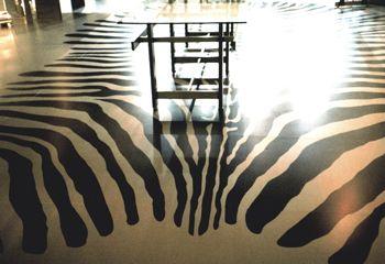 metal printed floor