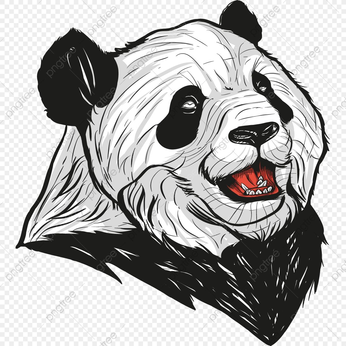 Panda Head Lineart Sketch Clipart Panda Infographics Elements Png And Vector With Transparent Background For Free Download Panda Head Panda Artwork Cartoon Sketch Drawing
