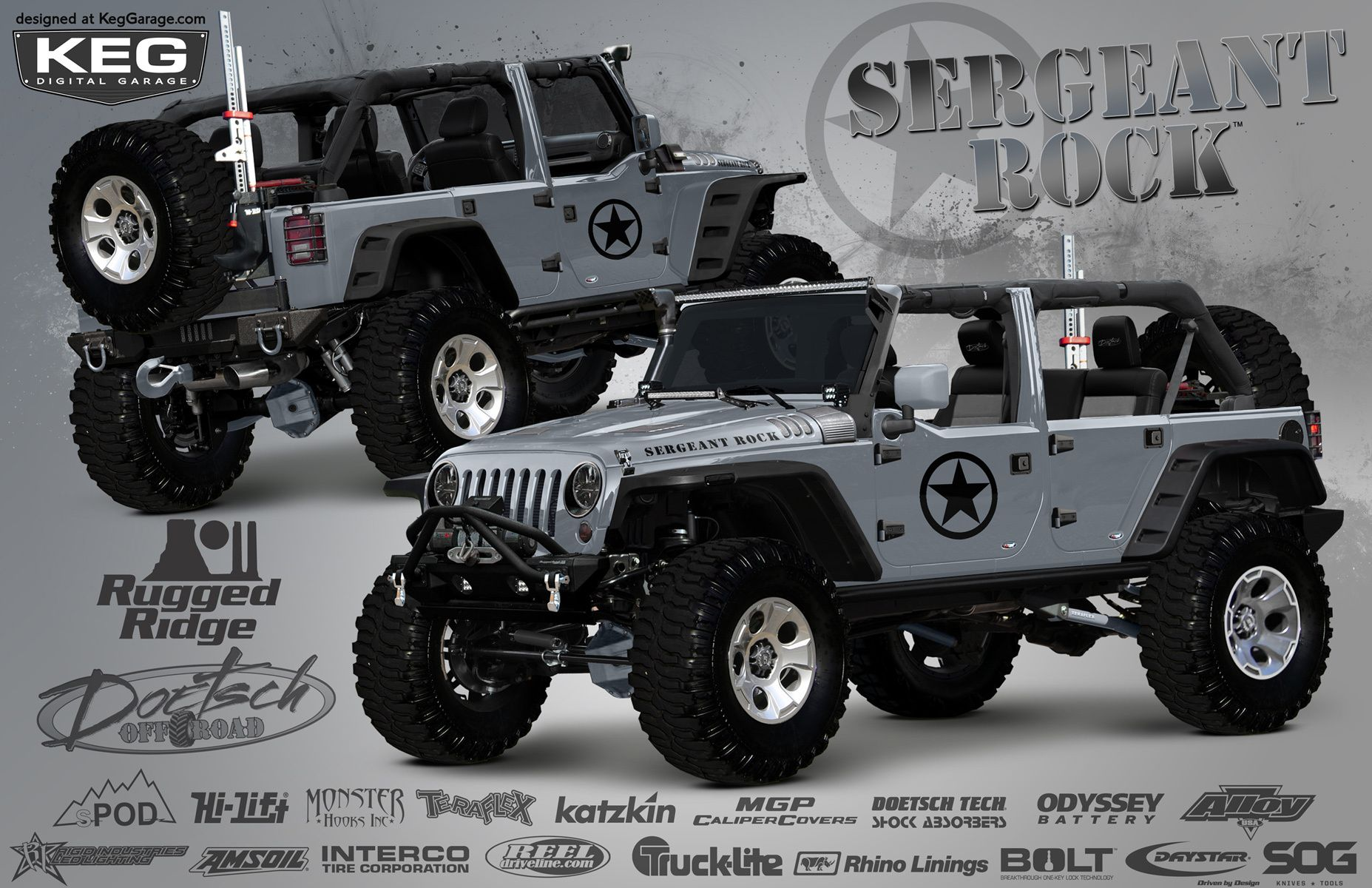 Patriotic 2014 jeep wrangler from revered off road builder dave doetsch to feature latest parts