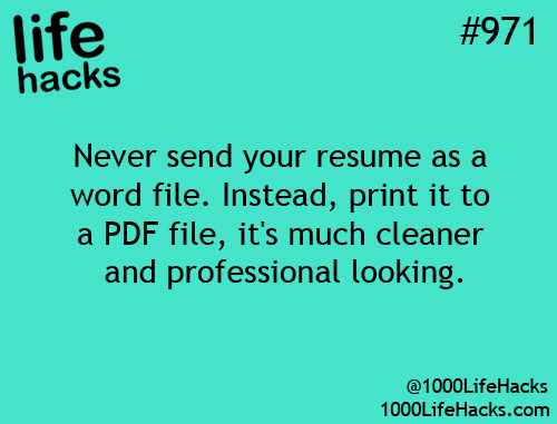 This can be said for any documents you send hack | Life Hacks ...