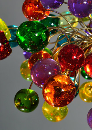 colorful bubbles hanging chandelier