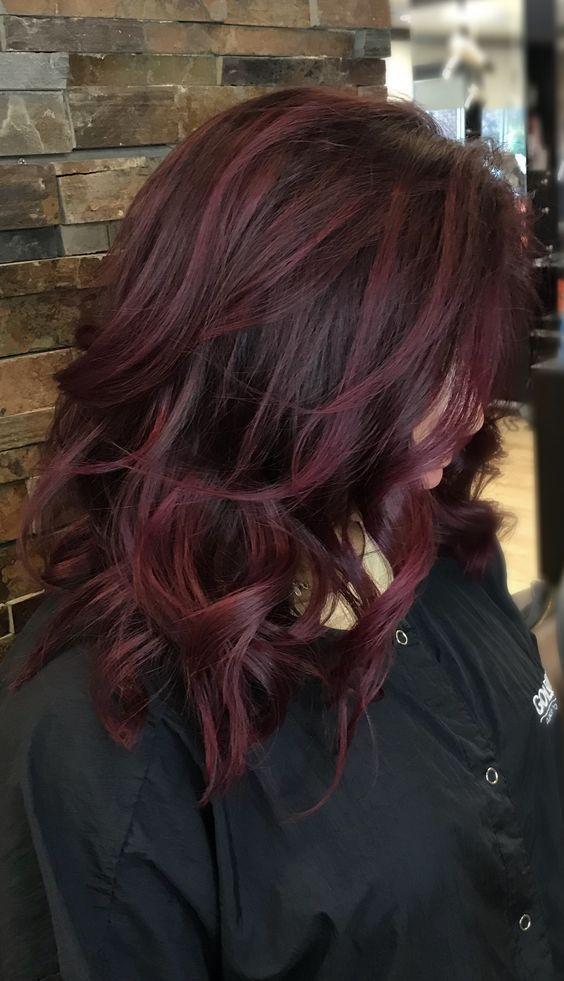47 Burgund Haarfarben und Stile für 2019 #fallhaircolorforbrunettes