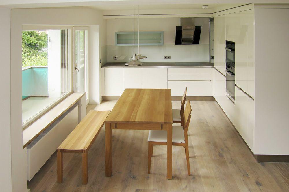 Ausziehbarer Esstisch Xtend In Eiche Select Mit Bank Und S1 Stühlen