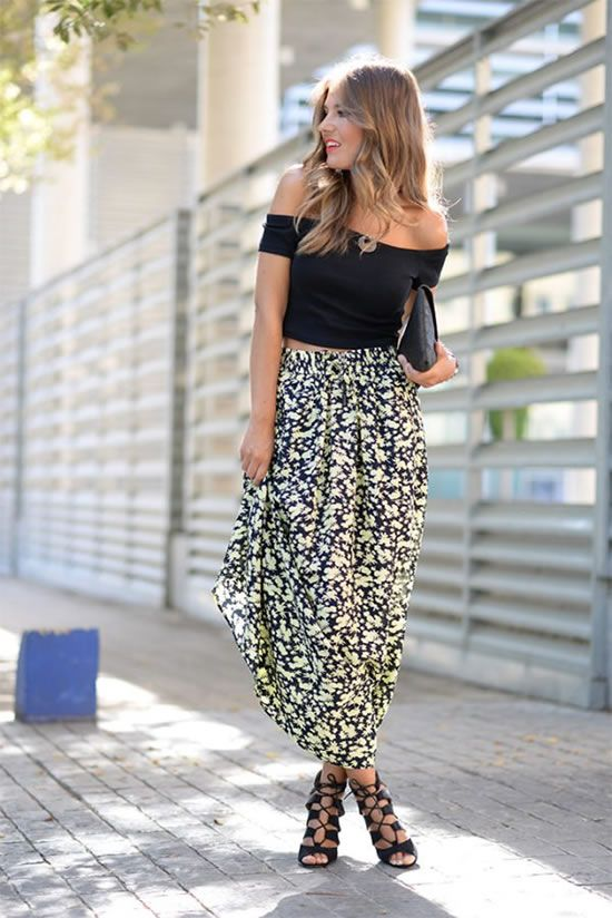 f74d59544bb8 Fashionable Trendy Maxi Skirt Outfit Ideas for Fashion Girls ...