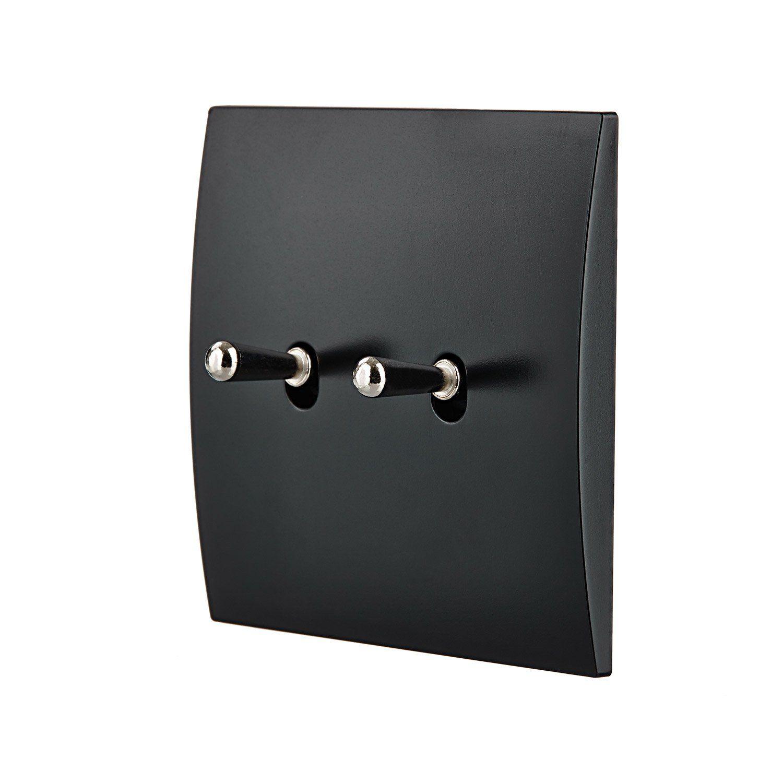 Double Interrupteur Va Et Vient Karo Noir Modul Design