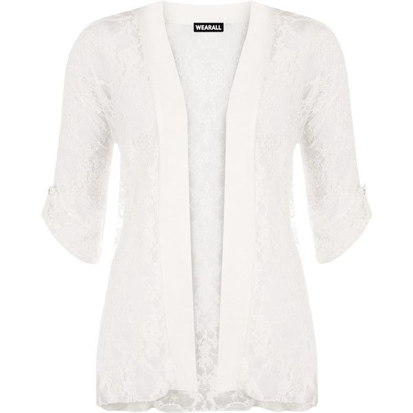 Tori Lace Short Sleeve Cardigan ($24) ❤ liked on Polyvore ...
