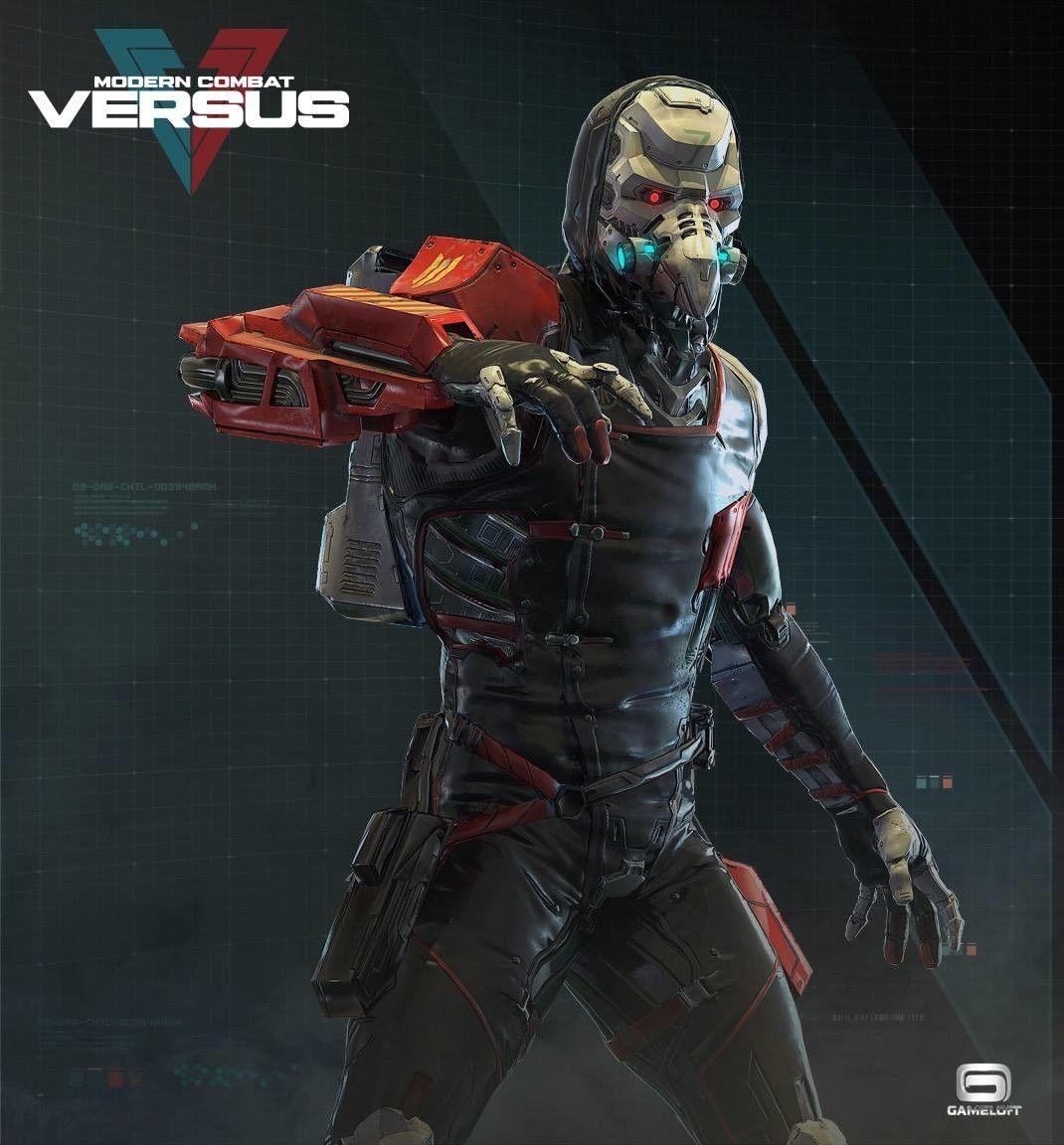 Modern Combat Versus Character Team Art Dump Character Combat Cyborgs Art