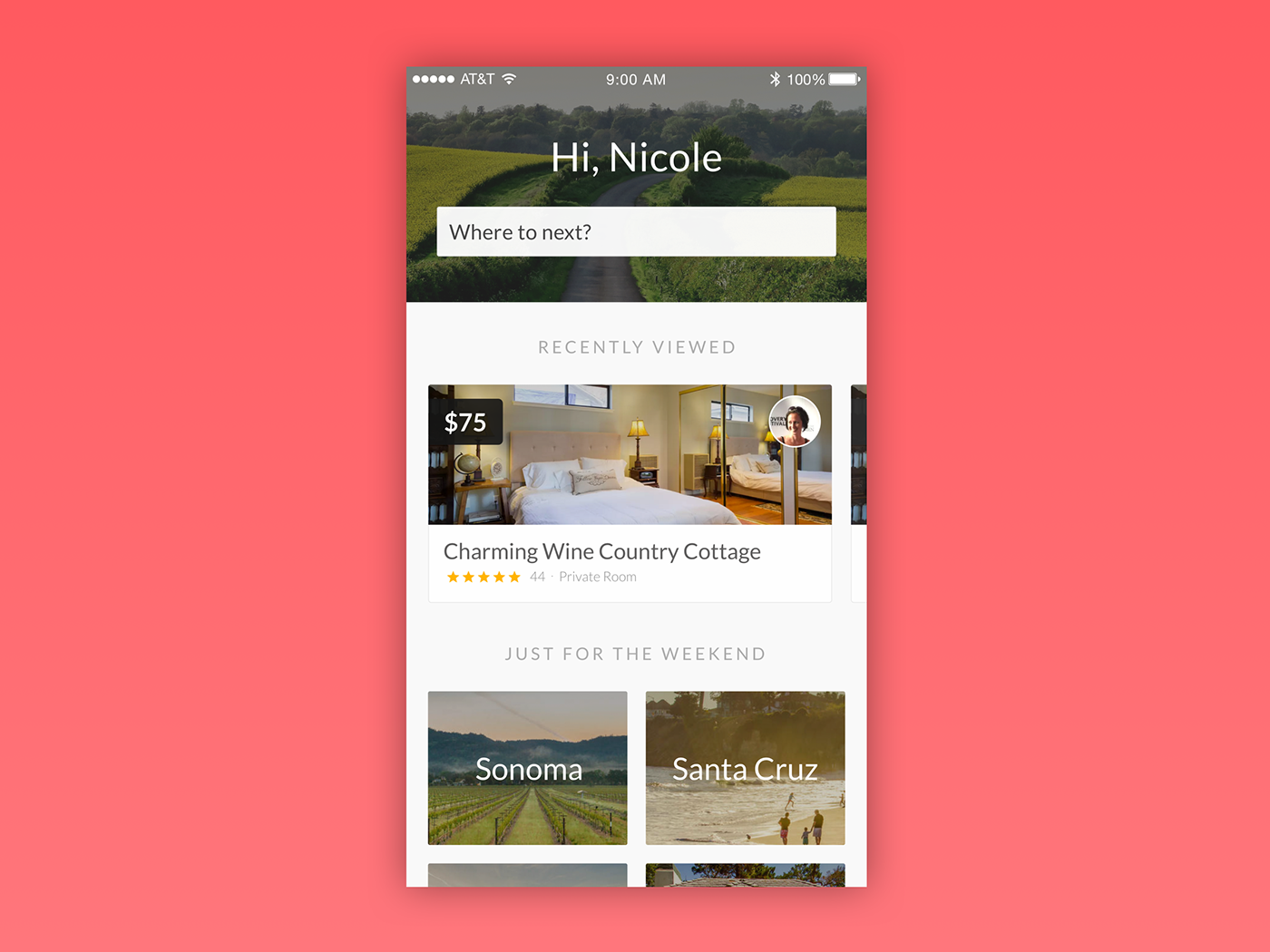 Airbnb iOS App Home Screen Redesign on Behance   mobile ...