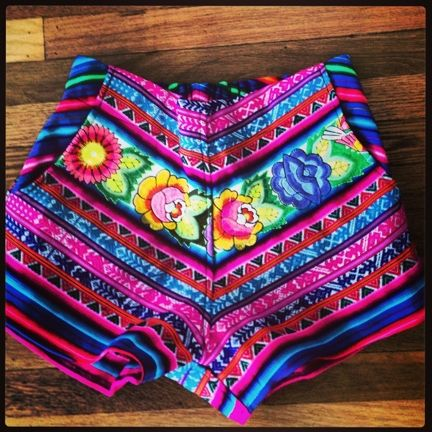 Statement shorts by Pamela V - we can't wait to rock these with a cozy sweater.