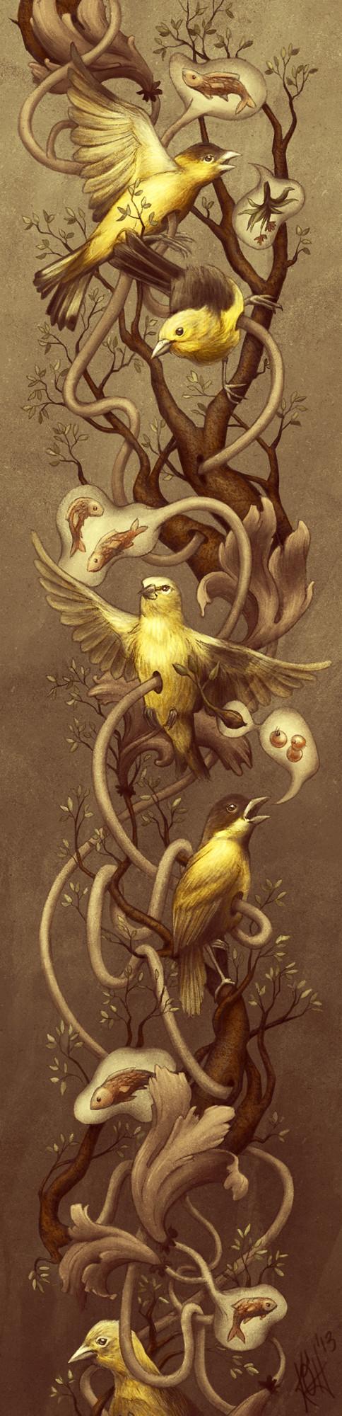 GOLDFINCH - Kate O'Hara - biological Illustration