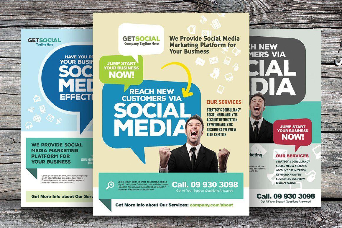 social media brochure template - social media marketing flyers flyer templates on