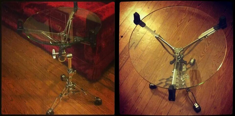 Drum snare stand table decor musician music furniture