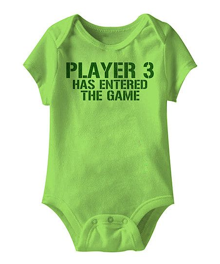 Key Lime 'Player 3 has entered the game' infant bodysuit
