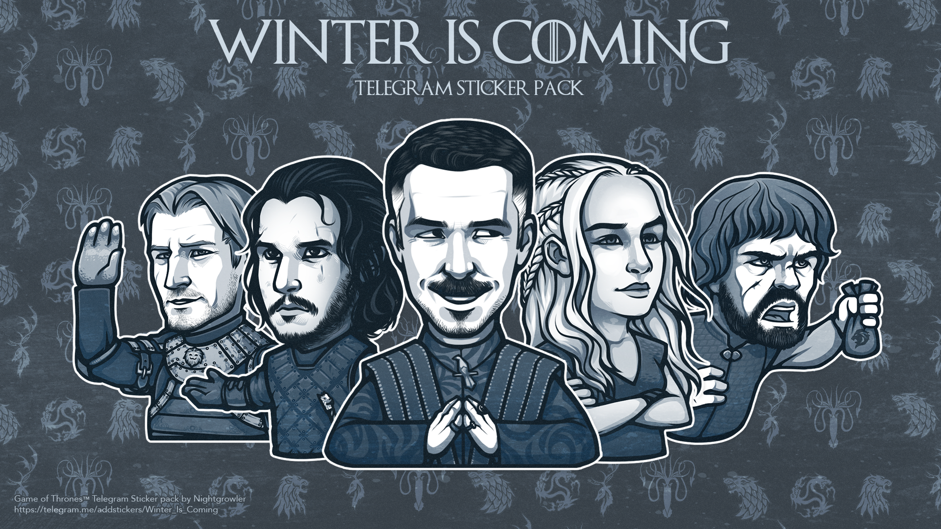 Winter Is Coming Sticker Pack R Telegramstickersshare Stickers Packs Winter Is Coming Telegram Stickers