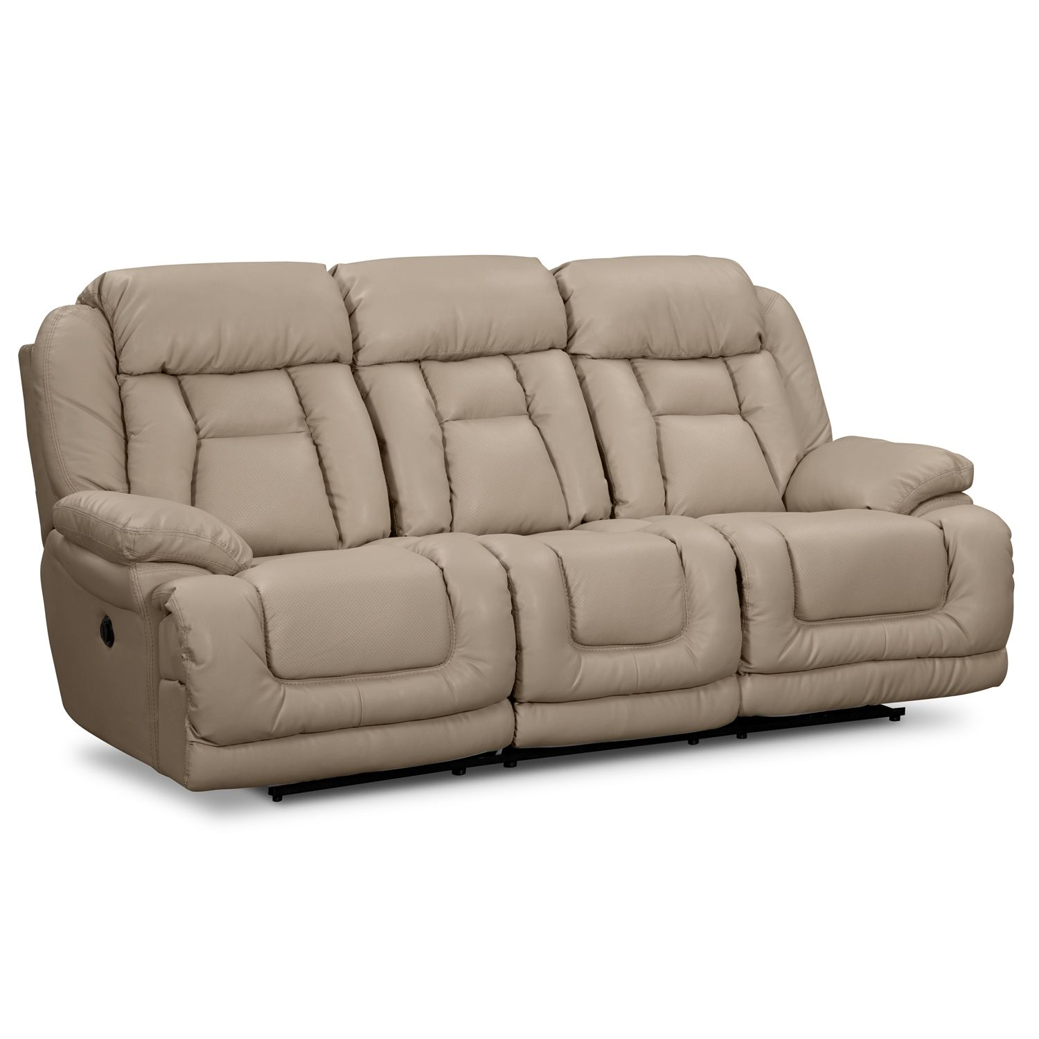 Avenger II Leather Dual Power Reclining Sofa - Value City Furniture  sc 1 st  Pinterest & Springer Wheat Leather Power Reclining Sofa | Furniture.com ... islam-shia.org