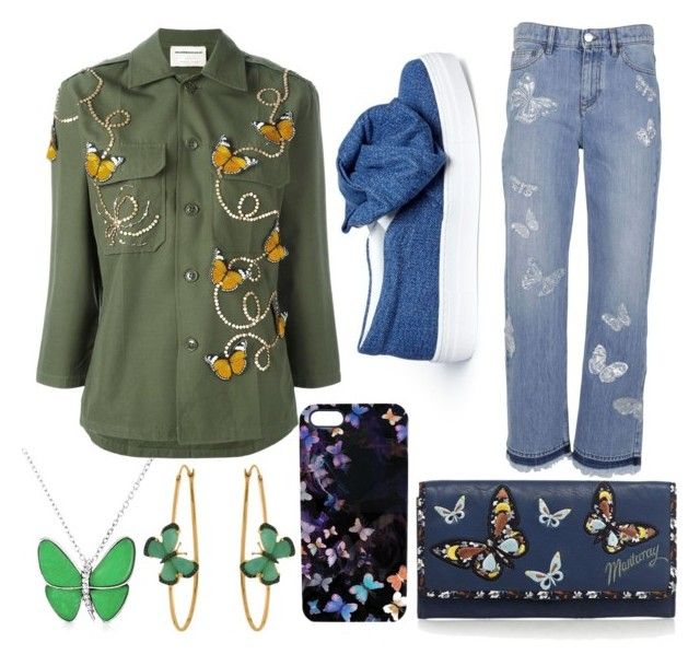 """Butterfly Catcher"" by nania840 on Polyvore featuring Joshua's, Bling Jewelry, NIGHTMARKET, Nikki Strange, Valentino, Mantaray and Christina Debs"