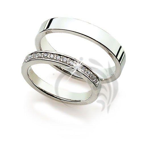 Polish Flat Matching Wedding Bands 015 Ctw Round Diamond 3mm 4mm