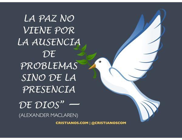 Solo en Dios encontraremos la paz verdadera.
