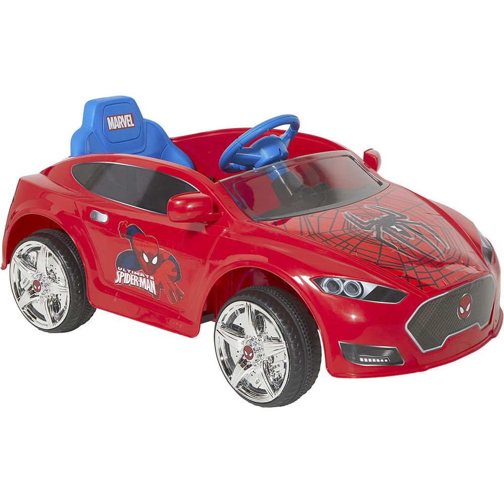 Electric Toy Cars For Boys : Boys ride on toy car spider man v speed electric battery