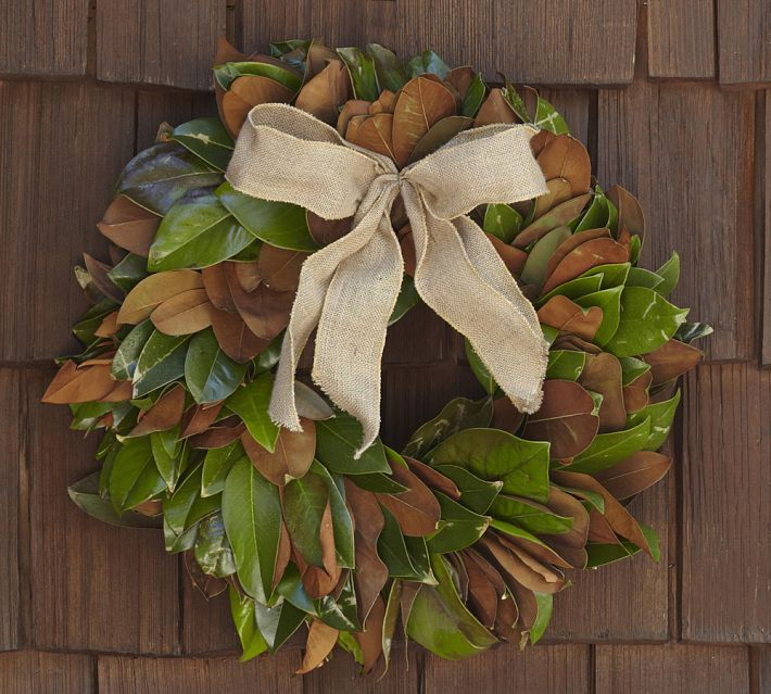Pottery Barn Knock Off Magnolia Wreath