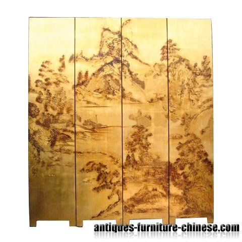 Hand painted chinese room divider gjs 005 biombos biombos china y asia - Biombos chinos antiguos ...