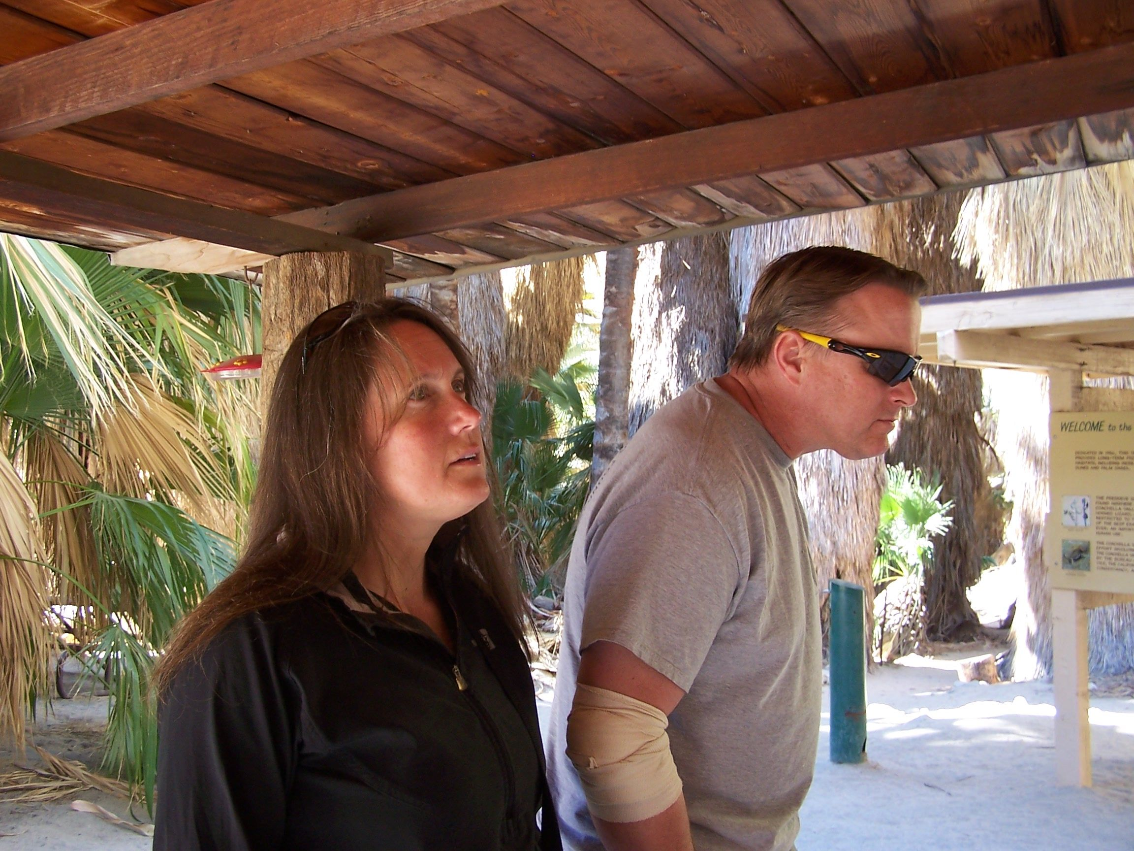 Our Daughter Shani and Son In Law Jason taken at the Palm Oasis in Thousand Palms.  It was great fun having them come for a visit.