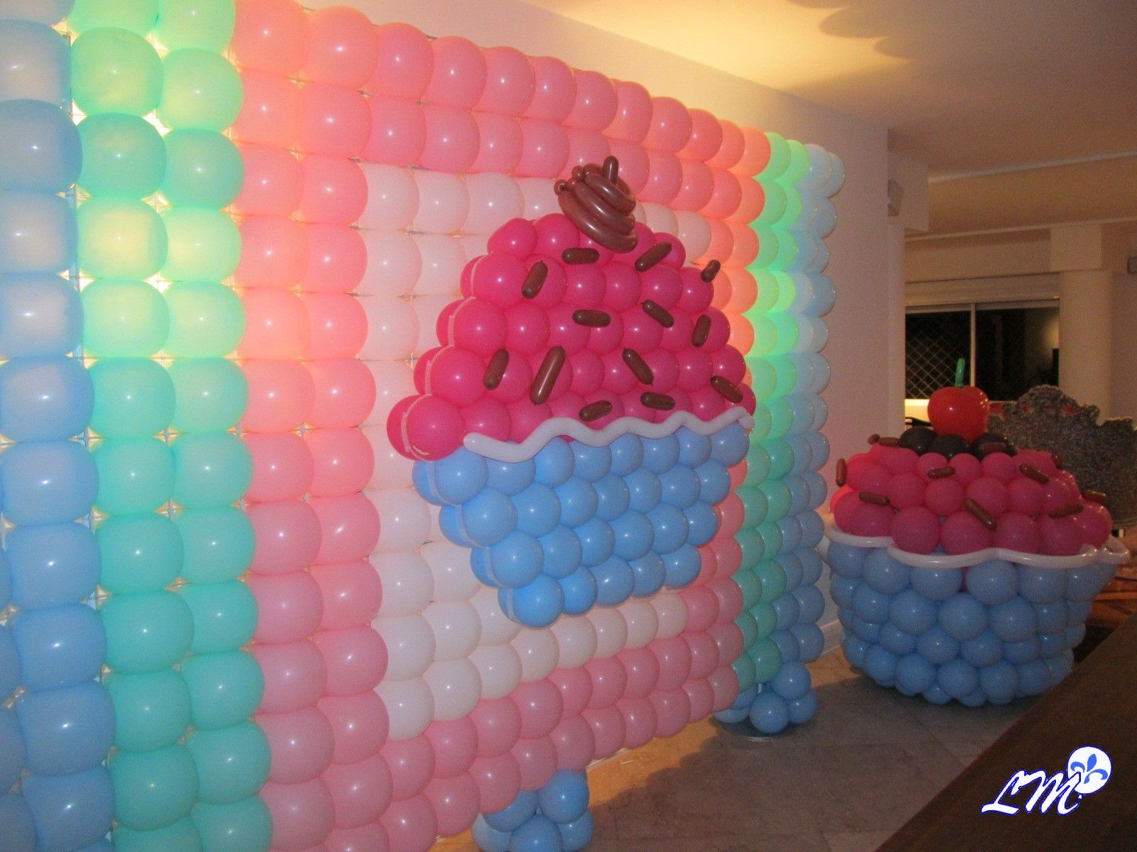 Decoracao Cupcake Painel Baloes Pds Escultura Curitiba Provencal
