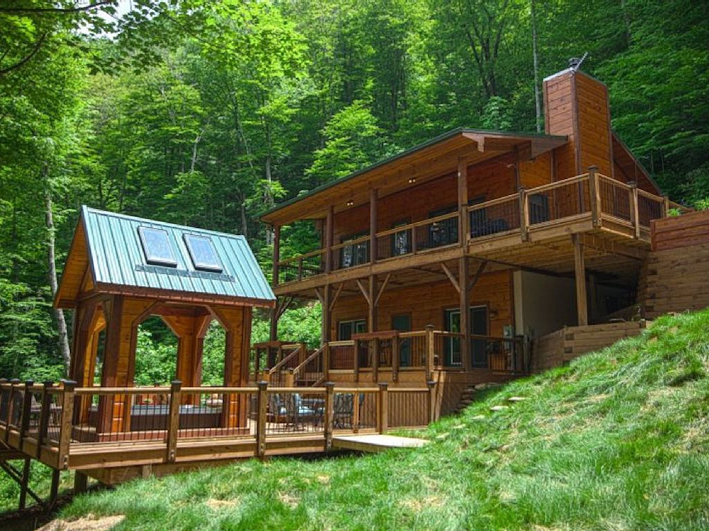 Vrbo Com 822239 Secluded Riverfront Cabin In Boone Nc Cabin Cabin Vacation Nc Cabin Rentals