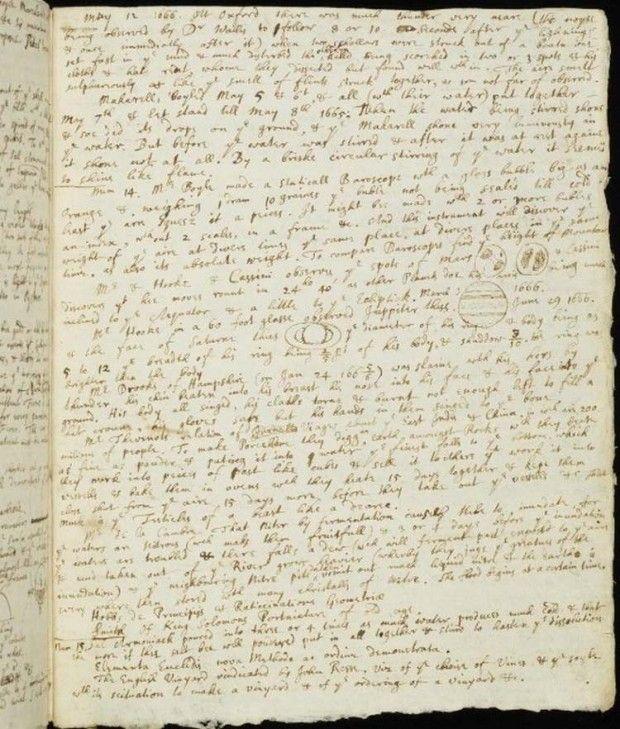Isaac Newton's handwritten in Cambridge University Library (5)