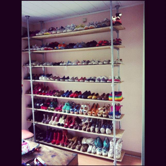 Fantastisch schoenenrek want! Home Sweet Home Pinterest