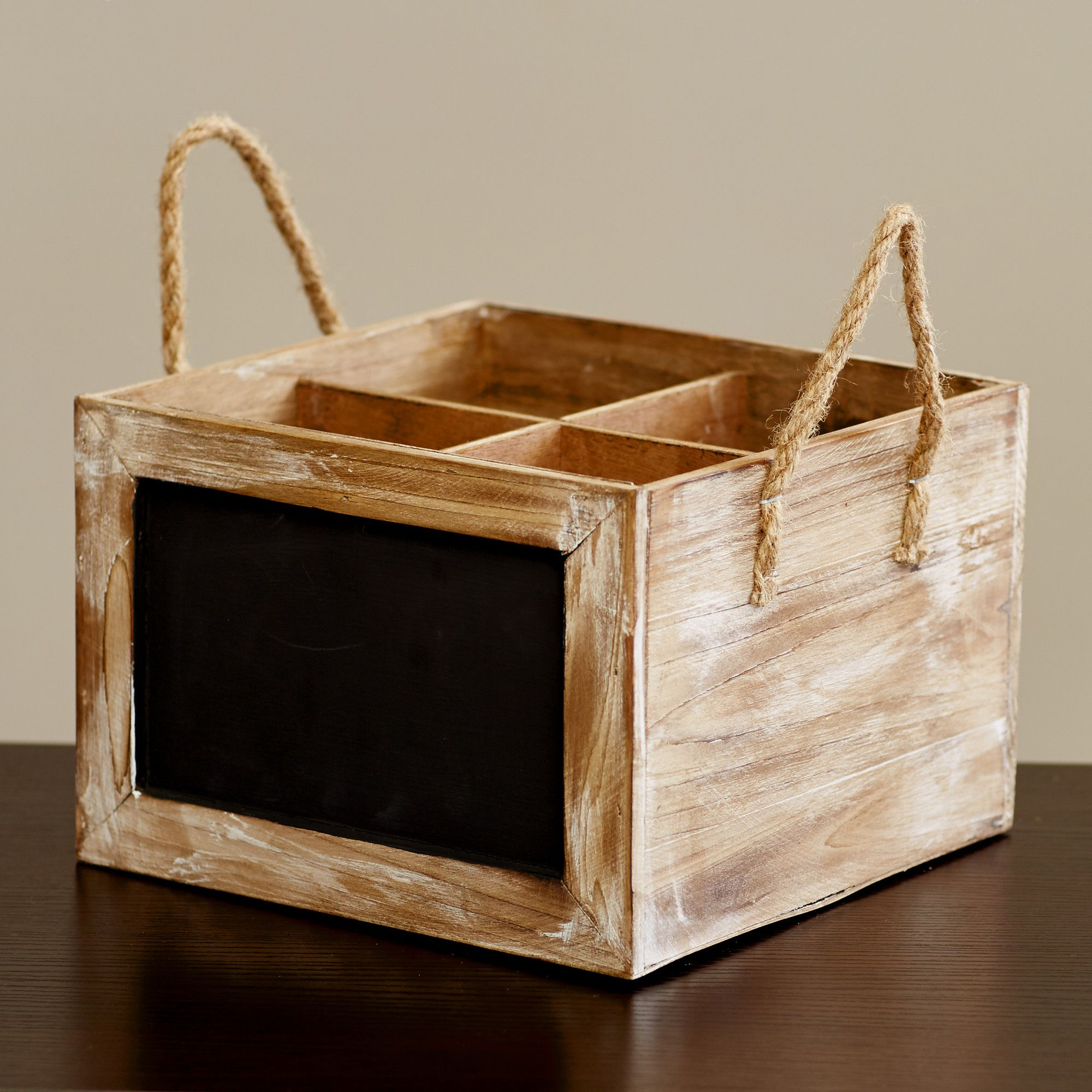 Wine Carrier Chalkboard Box Wood Crate
