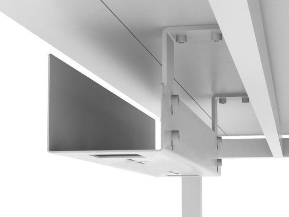 Goulotte Passe Cables Pour Bureaux Dinavi Dinavi In 2020 Cable Management Cable Management Box White Desk Setup