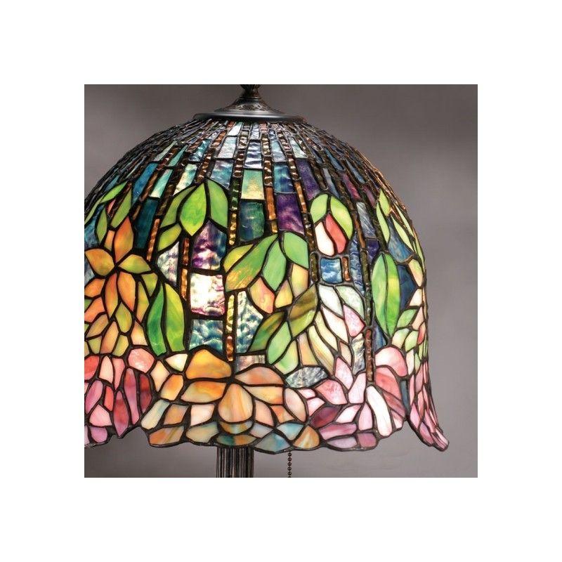 Lampada da Tavolo o Scrivania Tiffany Floreale