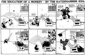 Another early newspaper comic strip, the Katzenjammer Kids