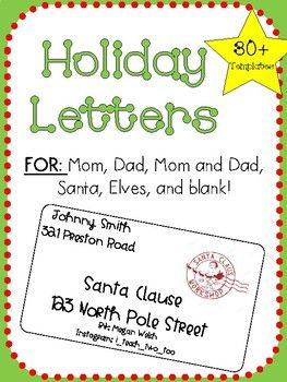 Holiday Letters  Friendly Letter Teacher Pay Teachers And Students