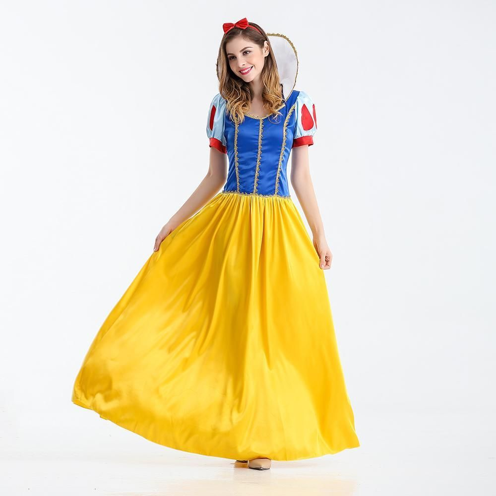 Girls Snow White Costume Princess Fancy Dress up Cosplay Carnival Party Dresses