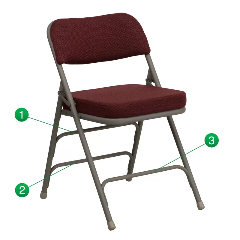 Symple Stuff Laduke Fabric Padded Folding Chair Reviews Wayfair Folding Chair Metal Folding Chairs Chair