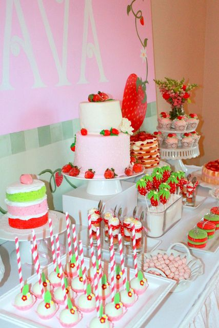 Incredible Strawberry Shortcake Birthday Party Ideas With Images Funny Birthday Cards Online Amentibdeldamsfinfo